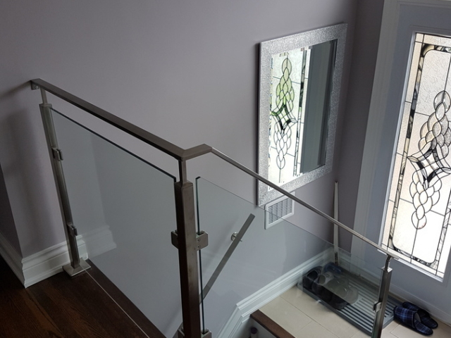 interior stainless steel glass railing