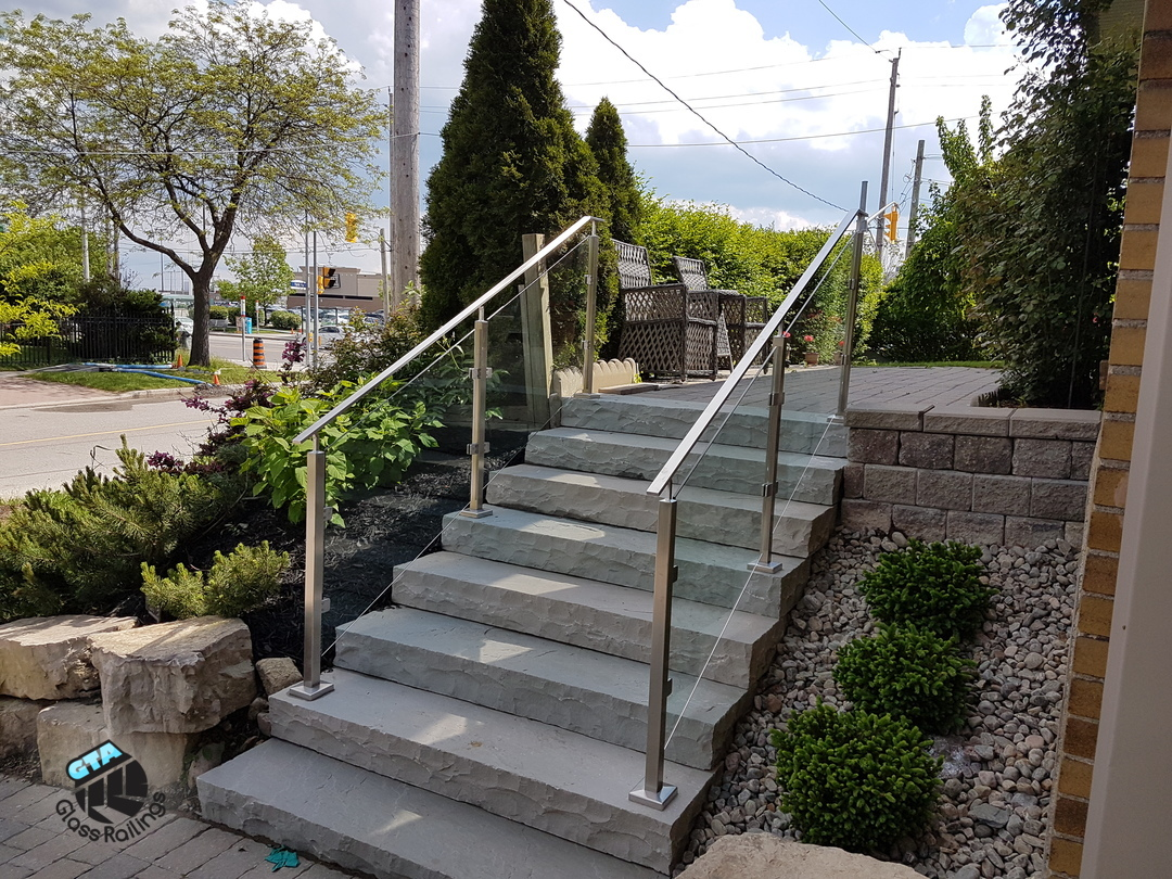 outdoor stainless steel railings