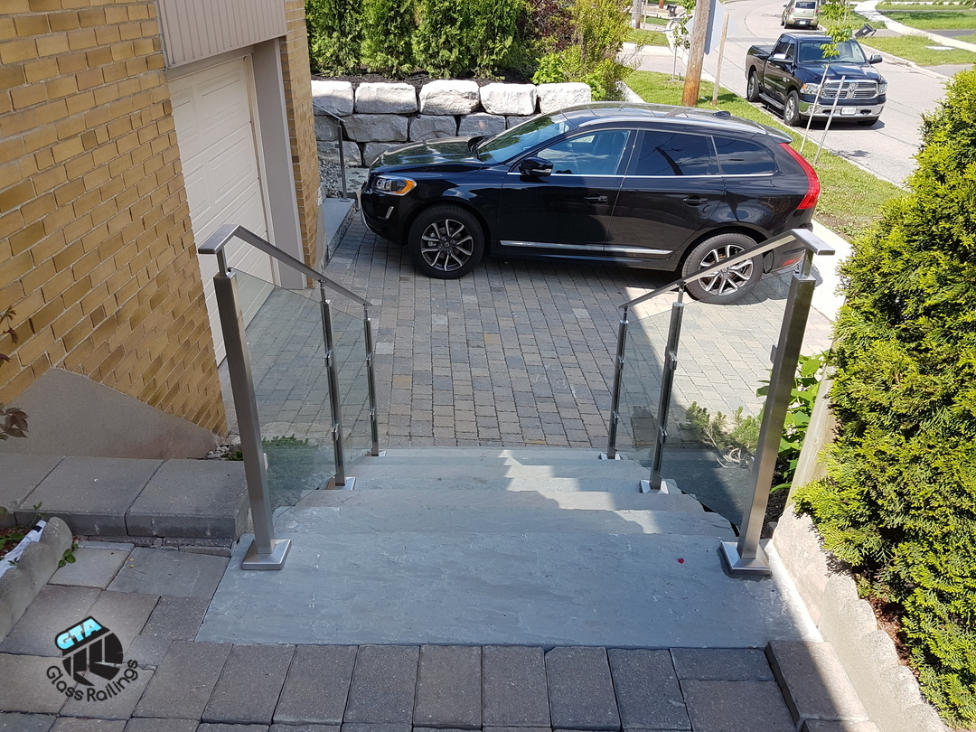 Exterior stainless steel railings