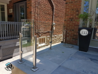 stainless steel glass railing front porch