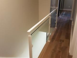modern indoor glass railing