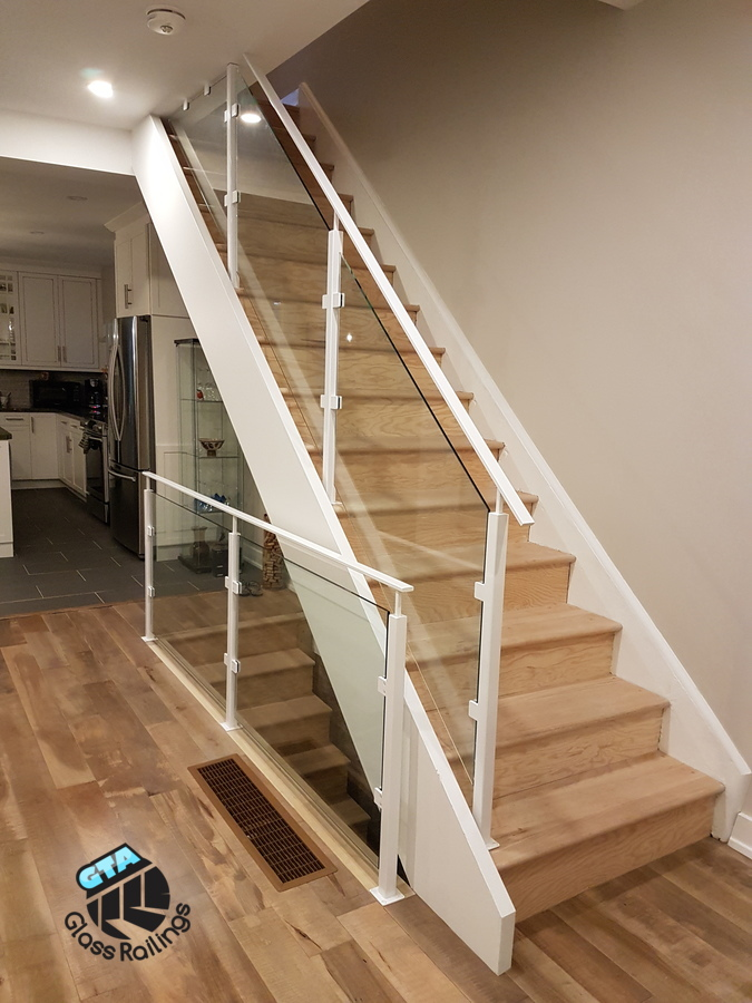 modern indoor glass railing