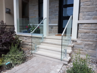 glass railings on front porch