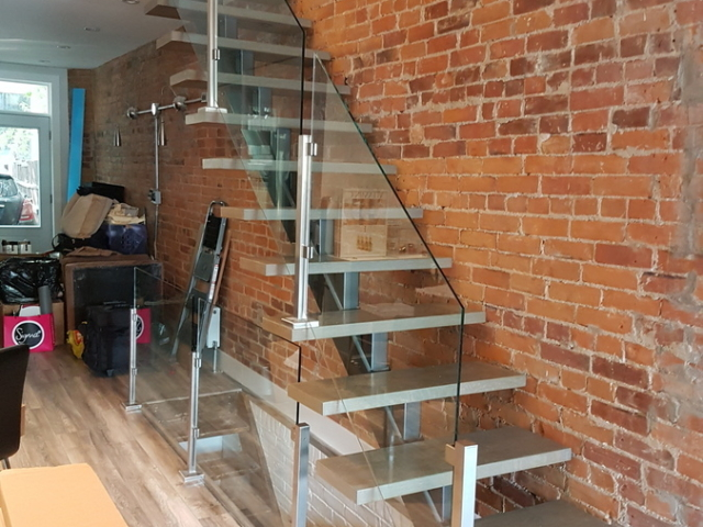 stainless steel glass railing no top rail