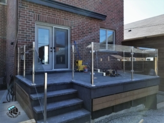 deck stainless steel glass railing