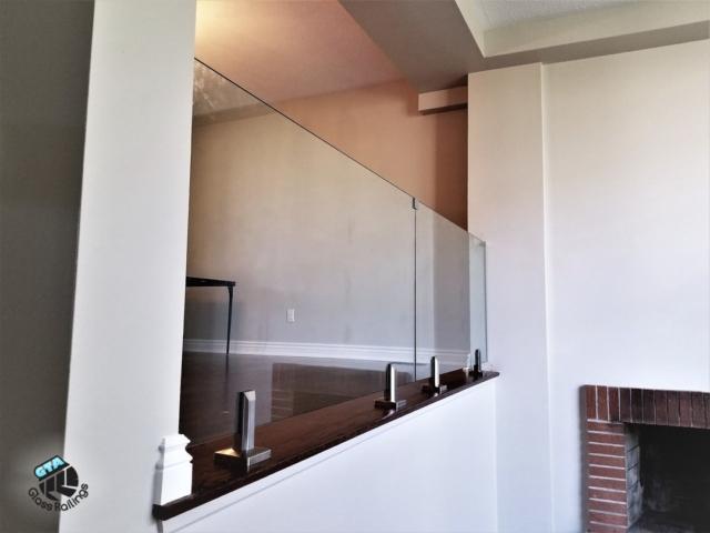 glass railings no post