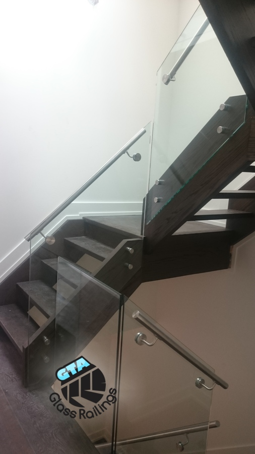 indoor frameless glass railing