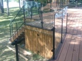 deck glass railing cottage