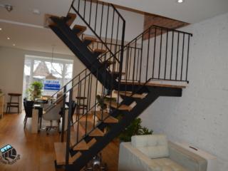 indoor metal railing