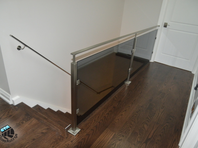 interior glass railing stainless steel