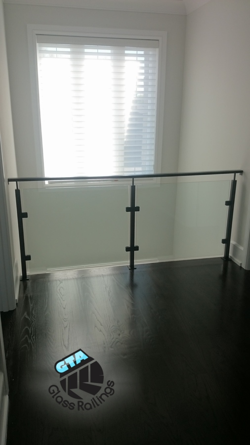 glass railing on mezzanine