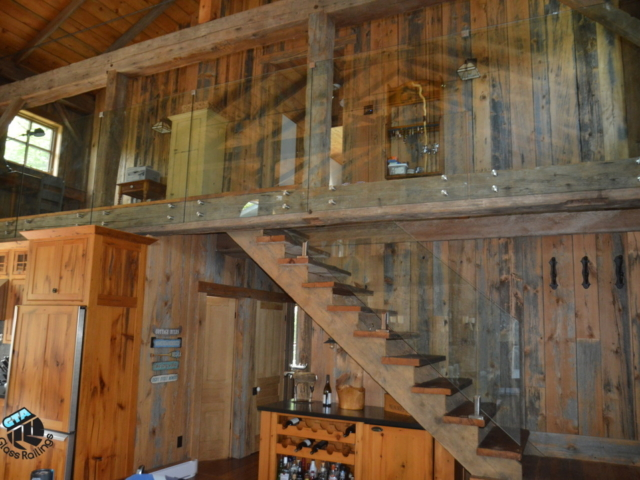 glass railing for cottages
