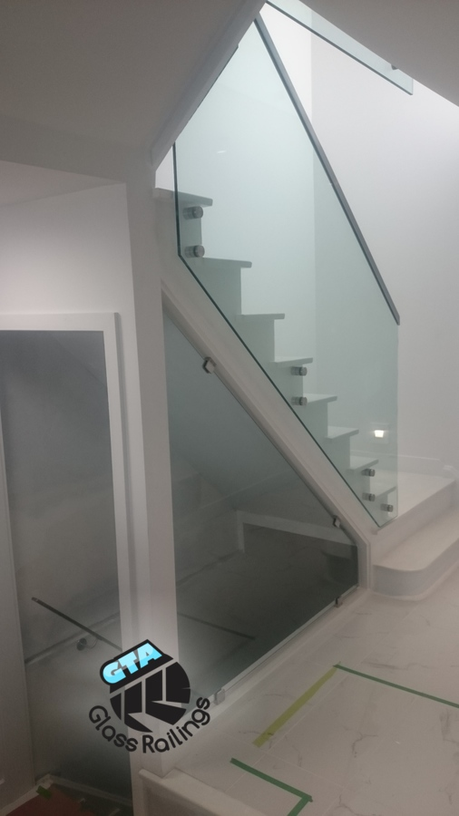 indoor glass railing stainless steel handrail