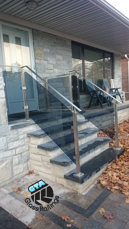 outdoor stainless steel glass railings