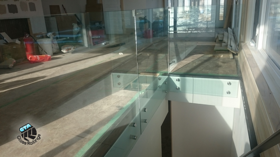 indoor glass railing
