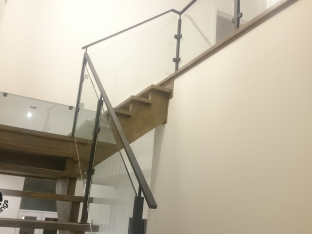 glass railings open risers