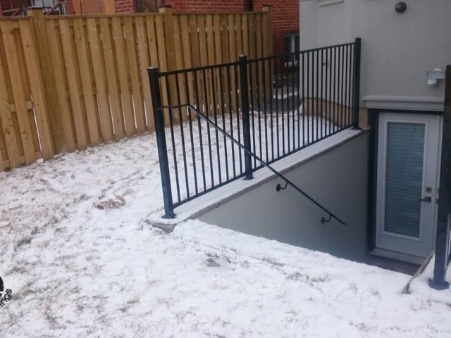 railings basement walk out