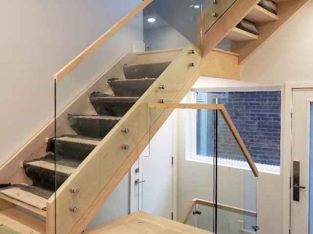 interior glass railing frameless