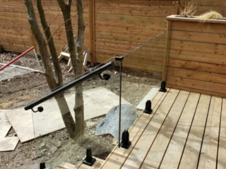 exterior glass railings frameless