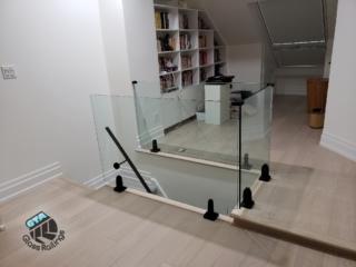 interior glass railings frameless