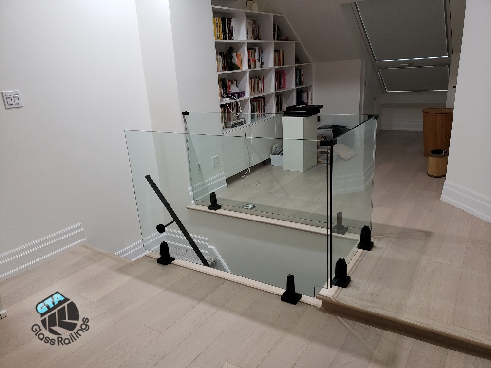 interior glass railings frameless