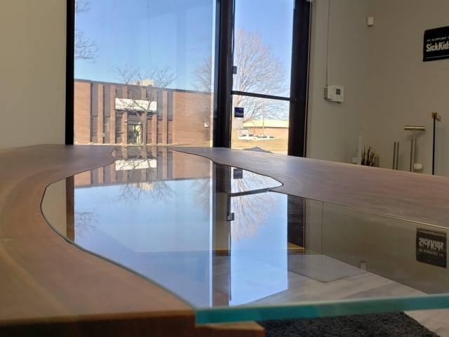 live edge glass table